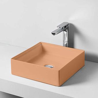 Artceram Scalino Раковина 38x38 см, 1 отв., накладная, цвет: arancio cammeo