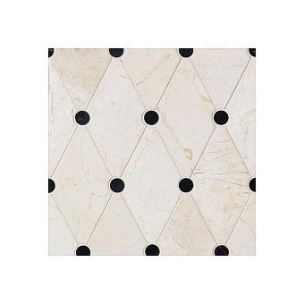 Devon&Devon Elite Плитка из натурального камня 38.5x33.5см, универсальная, мрамор, elite 2, цвет: crema marfil/black marquinha