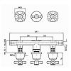 Zucchetti Agora Встроенный смеситель для ванны, с двухсторонним переключателем, цвет: хром