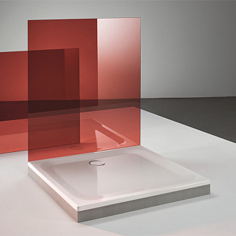 BETTE Душевой поддон 80х80х2.5 см, квадратный, D9см, цвет: белый