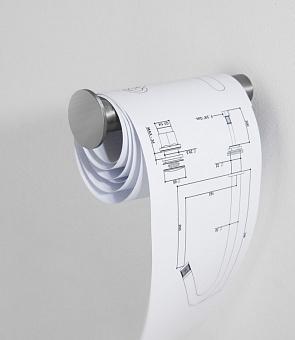Держатель туалетной бумаги матовая сталь Bongio Time 2020, подвесной монтаж, цвет: матовая сталь