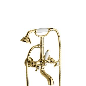 Cristina Londra Смеситель для ванны с ручным душем, 2 отв., цвет: золото