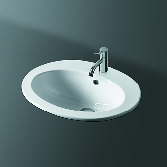 SIMAS Top e lavabi d'arredo Раковина 53.5x45 см, 1 отв., цвет: белый