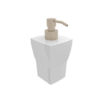 Bertocci Grace Дозатор настольный, цвет: белая керамика/nichel mat
