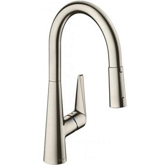Hansgrohe Kitchen M7116-H220 Кухонный смеситель, однорычажный, с вытяжным душем, сталь