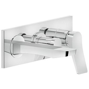 Gessi Rilievo Встраиваемый смеситель для ванной на 2 источника, с изливом 169мм и переключателем, цвет: хром