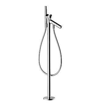 Axor Starck Смеситель для ванны, c двумярукоятками, напольный,внешняя часть, цвет: хром