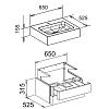 Keuco Edition 300 Комплект мебели 65x52.5х31.5 см, дуб