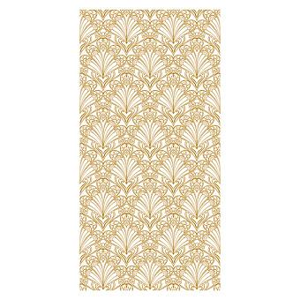 Devon&Devon Decor Slabs Керамогранит 120x240см, универсальная, глазурованнаный, декор: peacock white&gold