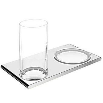 Keuco Edition 400  Двойной держатель со стаканом и мыльницей, хром