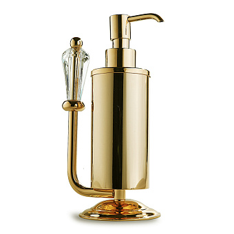 3SC Boheme Дозатор для жидкого мыла, настольный, цвет: золото 24к. Lucido