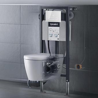 Duravit ME by Starck Унитаз подвесной Rimless 37.5х57.4см, с сиденье SensoWash® Starck f Lite, инсталяция в комплекте, цвет: белый