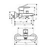 Hansgrohe Vernis Blend Смеситель для ванны, однорычажный, цвет: матовый черный