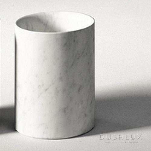 Agape Constellation Стакан настольный 13х10 см, мрамор Carrara, цвет: белый