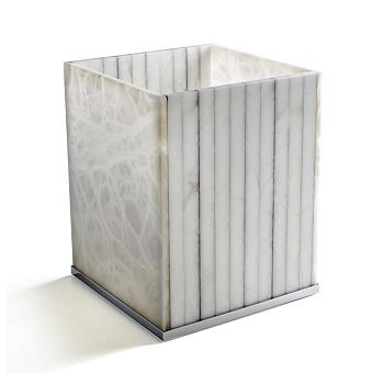 3SC RIGATO Ведро, без крышки, 20хh25х20 см, цвет: натуральный ALABASTRO/хром