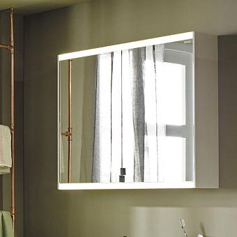 Burgbad Yso Зеркальный шкаф 82x65.6см, с подсветкой, цвет: песочный глянцевый