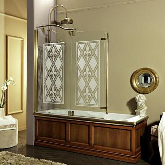 Душевое ограждение для ванн DX/SX Eurodesign 130xh145 см, профиль бронза