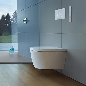 Duravit ME by Starck Унитаз подвесной Rimless 37.5х57.4см, с сиденье SensoWash® Starck f Plus, цвет: белый