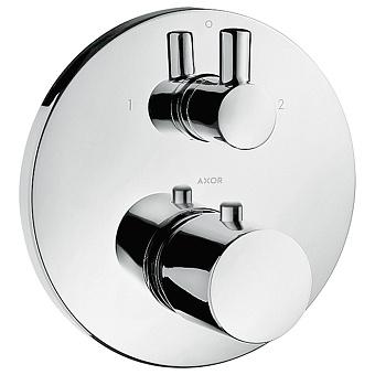 Axor Uno Смеситель для душа, встраиваемый, термостат , 2 потребителя, цвет: хром