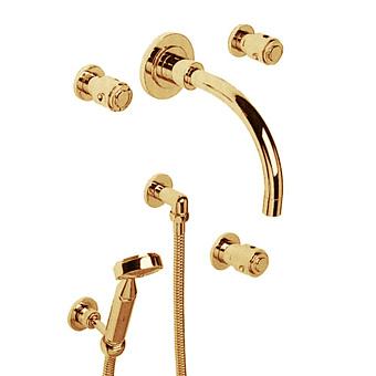 Cristal et Bronze Star Смеситель для ванны и душа, цвет золото 24 к.