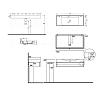 KERASAN Cento подвесная мебель, 1 ящик для умывальника, цвет белый глянцевый с раковиной 3550)