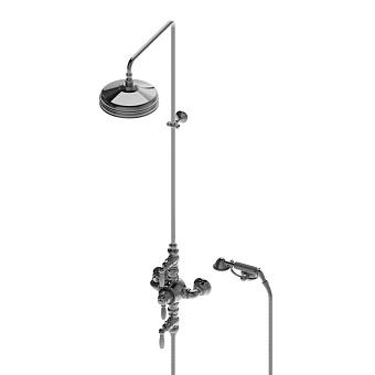 Stella Italica Leve Душевой комплект IS3284/33-220: термостатический смеситель, штанга+ручной+верхний душ 220мм, цвет: хром