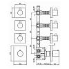 """Zucchetti Pan Встроенный термостатический смеситель, 1/2"""", с 3 запорными клапанами, цвет: хром"""