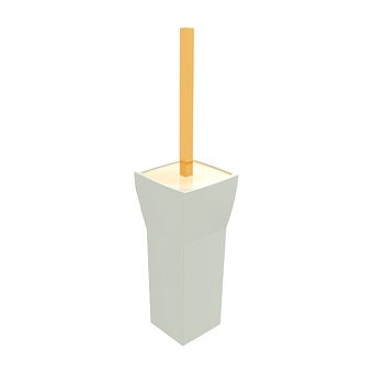 Bertocci Grace Ерш напольный, цвет: белая керамика/золото