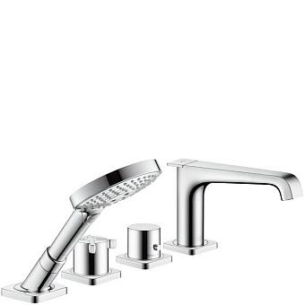 AXOR Citterio E, Термостат для ванны, на 4 отверстия, монтаж на плитку, цвет: хром
