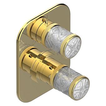 THG Hirondelles Смеситель для душа, встраиваемый, термостатический, цвет: Polished gold