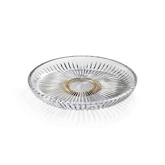 3SC ELEGANCE Лоток универсальный, настольный, цвет: прозрачный хрусталь/золото 24к.