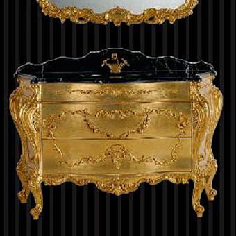 Mobili Di Castello Renoir Тумба напольная 84х143х59 см, декор Renoir gold