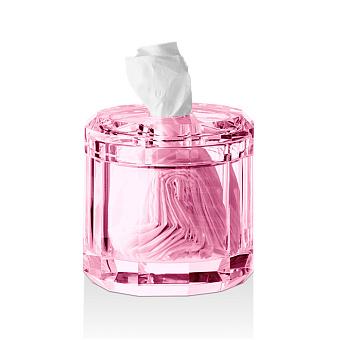 Decor Walther Kristall KB Диспенсер для салфеток 15x15см, хрустальное стекло, цвет: розовый