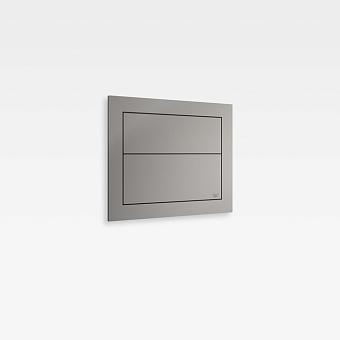 Armani Roca Island Сенсорная встраиваемая система двойного смыва 3/6 л. 250х41,5х250мм, цвет: silver