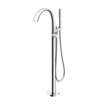 TOTO NEOREST Смеситель для ванны отдельностоящий с ручным душем, латунь, цвет: хром