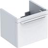 Geberit myDay Тумба с раковиной, 49.5х41х43см, с 1 отв., подвесная, с выдвижным ящиком, цвет: белый