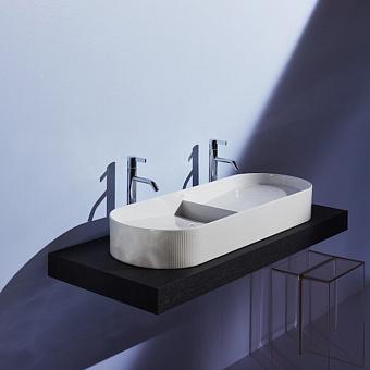 Laufen Sonar Раковина двойная 1000x370х130мм без перелива, без отв. под смеситель, с текстурой, цвет: белый