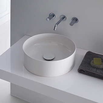 Laufen Living Square Раковина-чаша 38х38х13 см, без отв., без перелива, цвет: белый