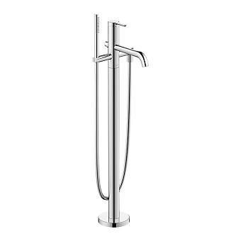Duravit C.1 Смеситель для ванны, напольный, с ручным душем, цвет: хром