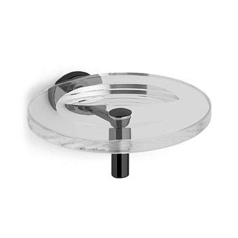 Bertocci Cinquecento Мыльница подвесная, цвет: прозрачное стекло/черный матовый