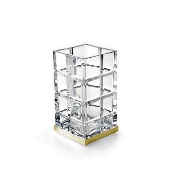 3SC Palace Стакан настольный, цвет: прозрачный хрусталь/золото 24к. Lucido