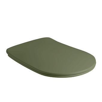 Kerasan Nolita Сиденье для унитаза SLIM быстросъемное, цвет Verde, петли хром