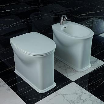 Flaminia Madre Plus Унитаз пристенный 54x36xh45см, унивирсальный выпуск, с системой goclean®, цвет: белый глянцевый