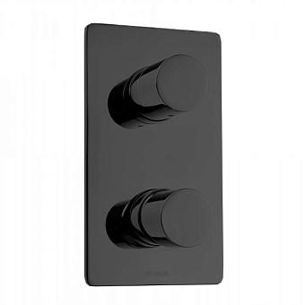 Bossini Oki Смеситель для душа, встраиваемый, с девиаторм 1/2/3/4/5, цвет: черный матовый