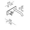 Agape Memory Настенный смеситель для раковины, однорычажный, излив: 200мм, цвет: хром