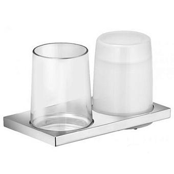 Keuco Edition 11  Держатель стакана и дозатора жидкого мыла, двойной, подвесной монтаж, цвет: хром