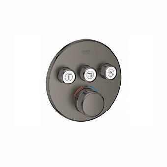 Grohe Grohtherm Термостат на 3 выхода, цвет: темный графит