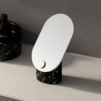 Agape Constellation Зеркало с мраморным основанием настольное 24x15 см, вертикальное, мрамор Marquina, цвет: черный