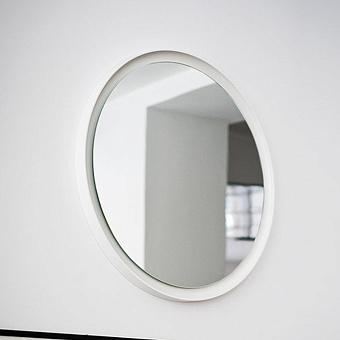 Agape Memory Круглое зеркало 70см, и внутренней LED подсветкой цвет: белый