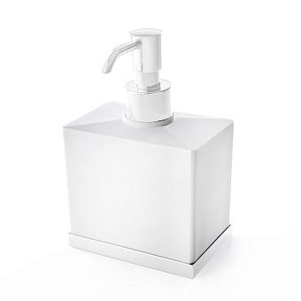 3SC Mood Deluxe Дозатор настольный, композит Solid Surface, цвет: белый матовый/белый матовый